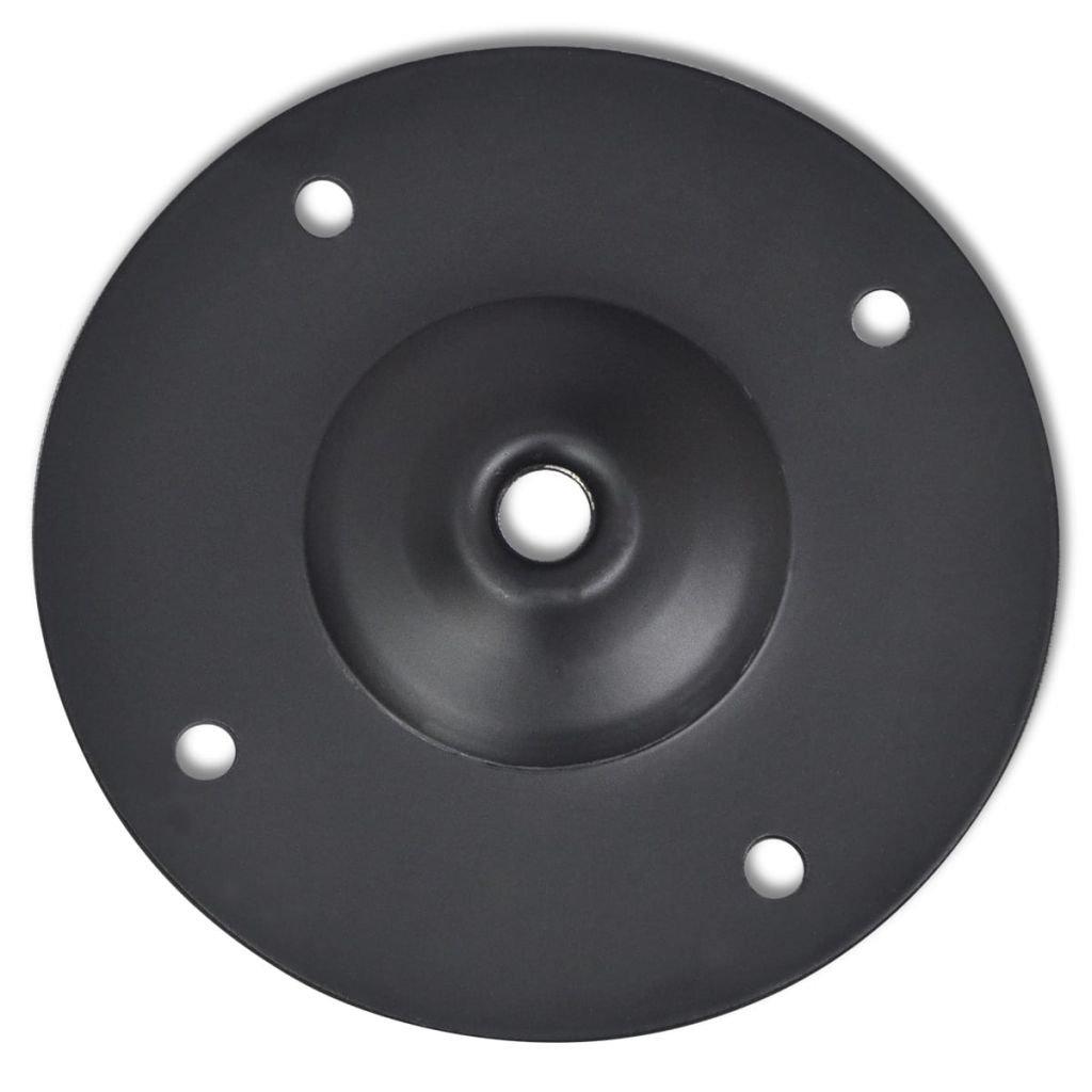 vidaXL 2 pieds de table t/élescopique en Nickel bross/é 710 mm-1100 mm
