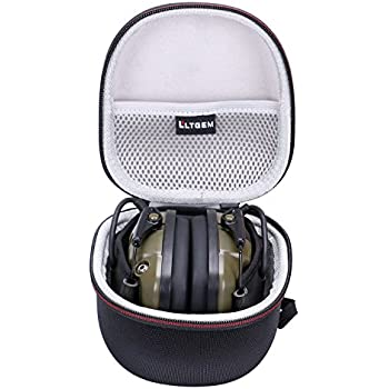 LTGEM for Howard Leight Impact Sport OD Electric Earmuff Case , Carrying Travel Storage Bag with Mesh Pocket for Accessories