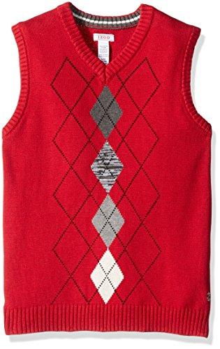 Red Argyle Sweater Vest - 3