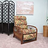 Urban Design Furnishings Sundance Rattan Recliner Chair Made in USA Assembled Regal Fabric Prestige June