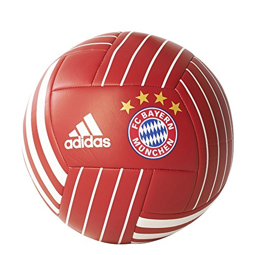 adidas Performance BS3439  FC Bayern Soccer Ball, FCB True Red/White, 5 - Red Soccer Ball