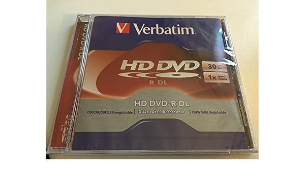 Verbatim HD DVD-R DL 30GB 1X 1pk Jewel Case 1 Pieza(s) - DVD+RW vírgenes (30 GB, DVD-R DL, 1 Pieza(s), Caja de Joyas, 1x): Amazon.es: Informática