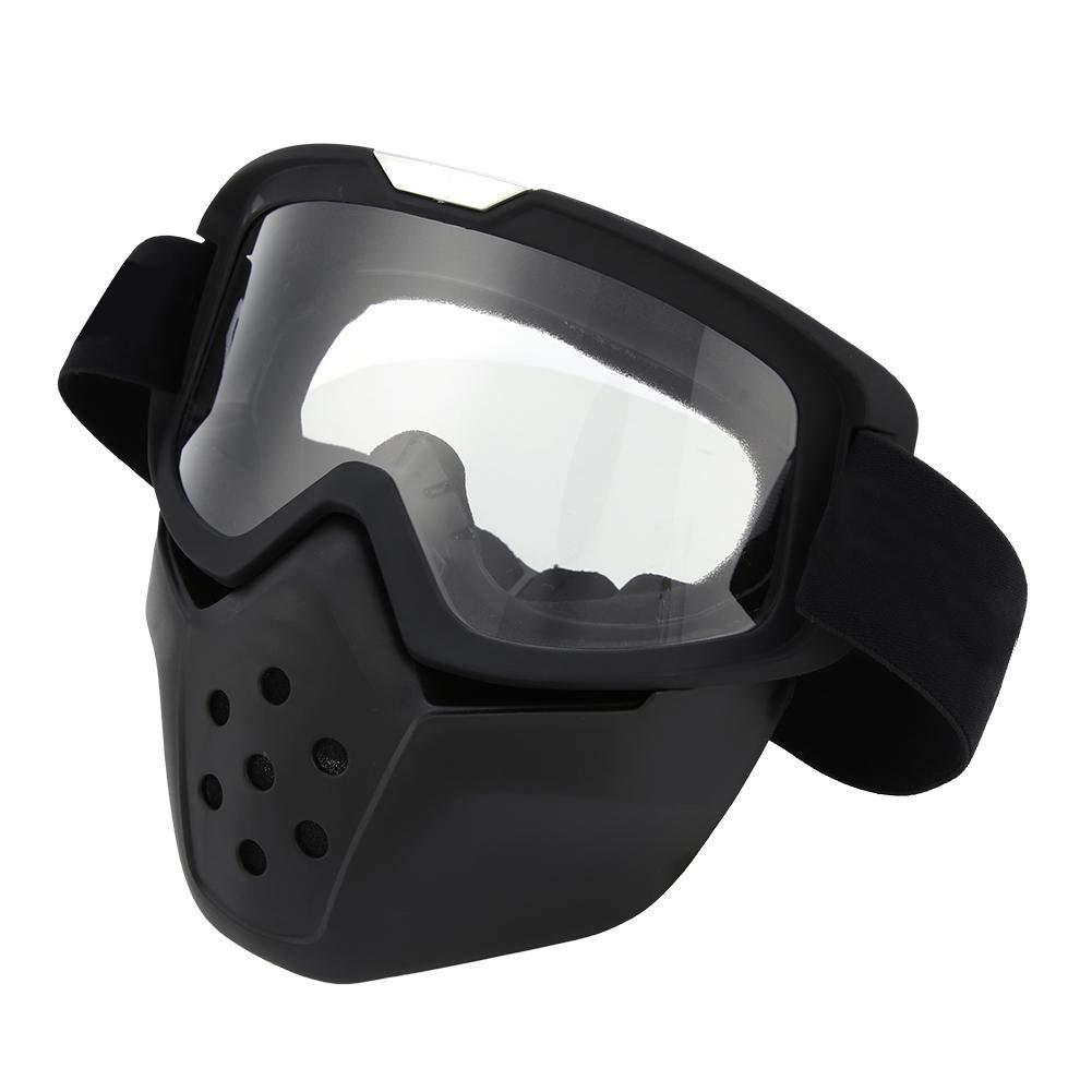 Gesteam Cascos de Moto para Hombres Mujeres para Esquiar Ciclismo en Moto de Nieve Antivaho Transpirable con M/áscara Facial Extra/íble Cascos de Moto Gafas de Montar