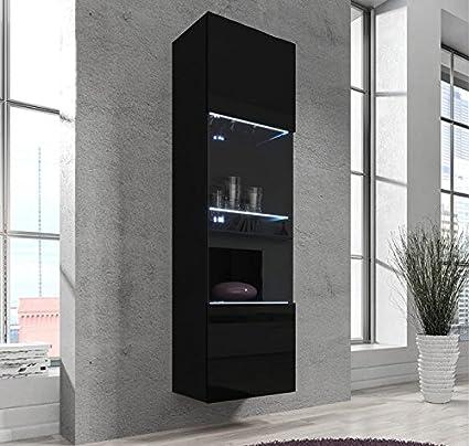 Muebles Bonitos Armario Colgante modelo Aprilia en color negro