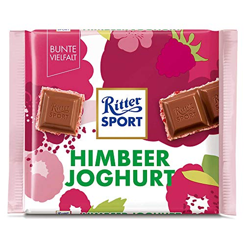 Ritter Sport Raspberry Creme Chocolate Bar Candy Original German Chocolate 100g/3.52oz