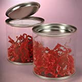 3 X 3 ROUND CLEAR PVC & STEEL CAN-PKG