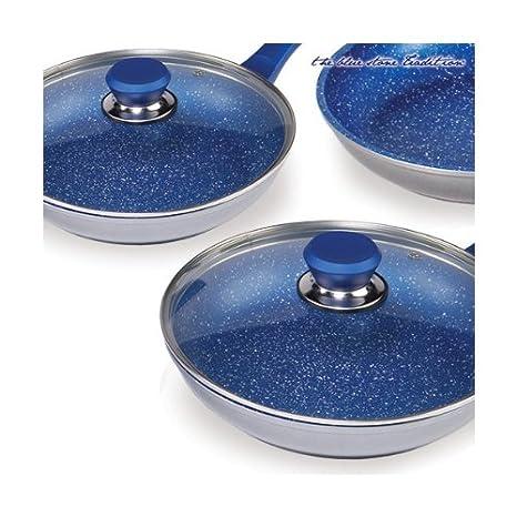 Sartenes Revestimiento Piedra Blue Stone Pan (5 pzs.): Amazon.es: Hogar