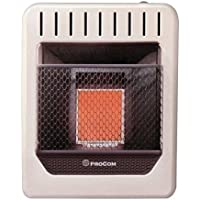 ProCom MNSD2TPA 10000 BTU Vent Free Infrared Thermostat Control Space Heater, Dual Fuel