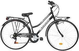 28 pulgadas Mujer City bicicleta 6 velocidades Maino Way, negro: Amazon.es: Deportes y aire libre