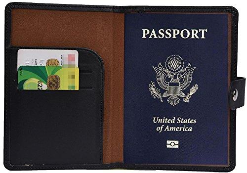 RFID Blocking Passport Holder Wallet Cover Case Leather Travel Journey Wallet