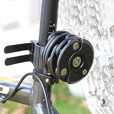 ZYZSYY Bike Anti Theft Lock Chain Folding Hamburger Locks High Security Bicycle Cycling Fliplock Alloy Mount Bracket Mountain Road Bike