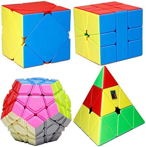 Moyu MoFangJiaoShi MFJS 4 Conjuntos de Cubos de Rompecabezas con Formas Diferentes Contiene 3x3 Pirámide + Dodecaedro de 3 Capas + Skewb + SQ1 (sin Etiqueta): Amazon.es: Juguetes y juegos