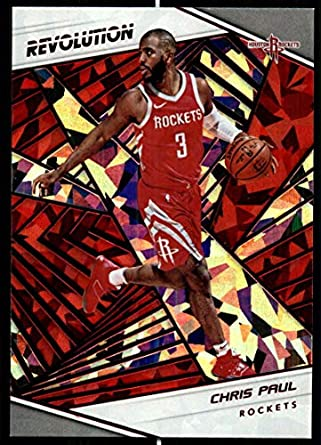 2018-19 Revolution Chinese New Year Red Parallel  38 Chris Paul Houston  Rockets Panini 45a32f062
