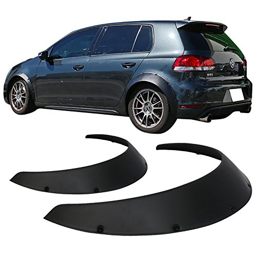 Fender Flare Fits Any Car | Ikon V3 Universal 90mm Wide Rear Polypropylene Plastic Fender Flares by IKON MOTORSPORTS | 2009 2010 2011 2012 2013 2014 2015 2016 2017 2018