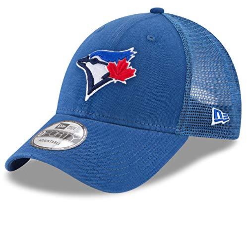 New Era 9Forty Toronto Blue Jays Hat Trucker Adjustable Mesh Royal Blue Cap (Toronto Caps Blue Jays)