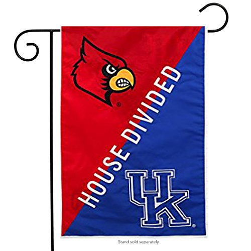 (Fans With Pride Louisville & Kentucky House Divided Suede Garden Flag Double Sided 12.5