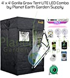 Gorilla Grow Tent LITE (4' x 4') LED Combo Package #2