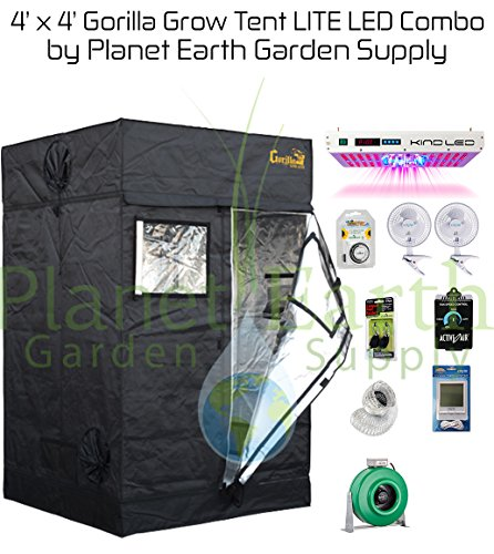 Gorilla Grow Tent LITE (4u2032 x 4u2032) LED Combo Package #2  sc 1 st  Growing Dank! & Complete Grow Tent Packages | Growing Dank!