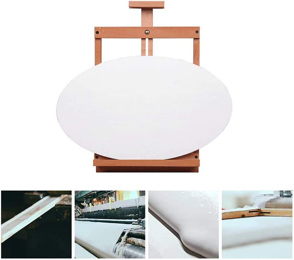 Mu Mianhua Oval Canvas Quality Acid-Free Stretched Canvas Stretched Artist Canvas Professional Stretched Boards for Acrylic Painting Oil Painting