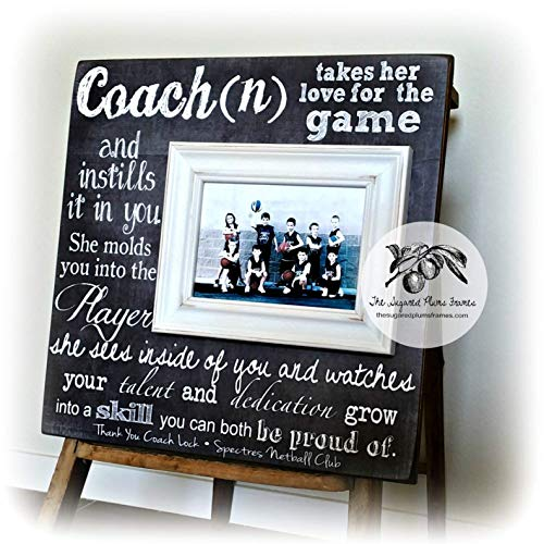 (Personalized Coach Thank You Gift, Coach Gift Ideas, Basketball, Dance Team, Soccer, Football, Gymnastics, Baseball, End of Season 16x16)