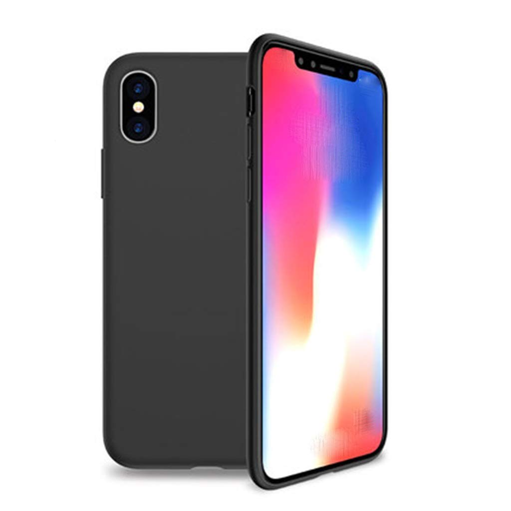 Phone Charms Mobile Shell iPhone Liquid Silicone Phone Case Drop-Proof Ultra-Thin All-in-One Phone Case Scrub Soft Case Black (Color : A, Size : iPhone 11 Pro) by Phone Charms