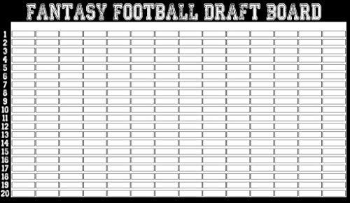 2019 Fantasy Football Draft Board Kit + IDP Labels [578 Players] ()