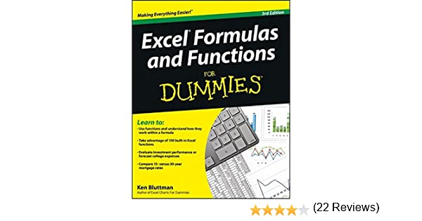 Amazon.com: Excel Formulas and Functions For Dummies ...