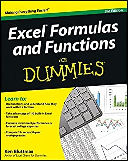 amazon com excel formulas and functions for dummies 9781118460849