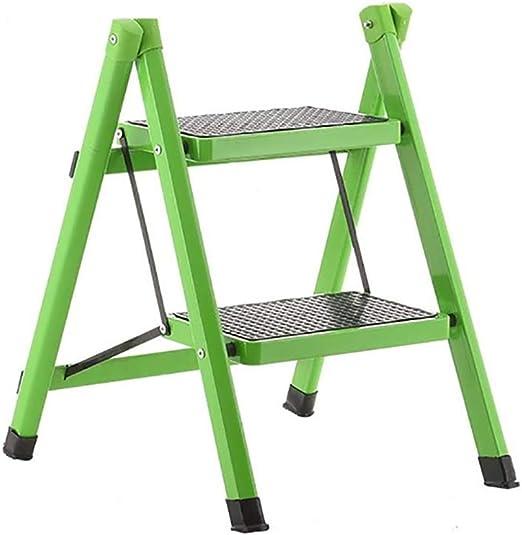 LYJBT Metal Plegable Escaleras de Seguridad de 2 peldaños Ascendentes Taburetes de Cocina portátiles Inicio Escalera de Tijera Herramientas de jardín (Color : C): Amazon.es: Hogar
