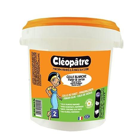 Cleopatre - CB1K - Colle Vegetale - Frasco de cola blanca para recargar - tarro de 1 kg: Amazon.es: Oficina y papelería