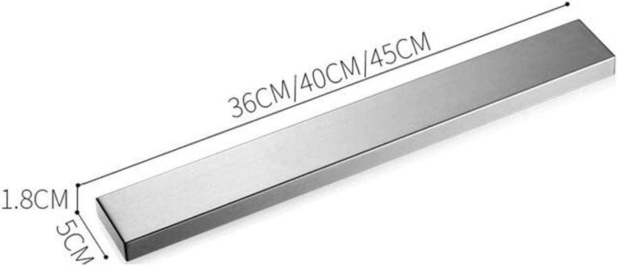 Messerhalter Schlagen Sie Frei Rostfreier Stahl An Der Wand Montiert Starker Magnetismus Multifunktion Küche Regal Mehrere Größen,40 * 5 * 1.8cm 45*5*1.8cm
