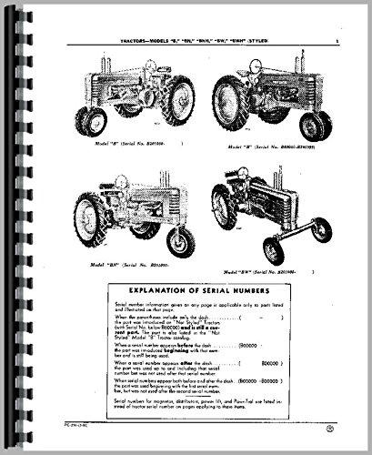 John Deere B Tractor Parts Manual John Deere Parts Books