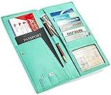 RFID Passport Holder Travel Wallet - Passport Wallet - Travel Document Holder for Women and Men