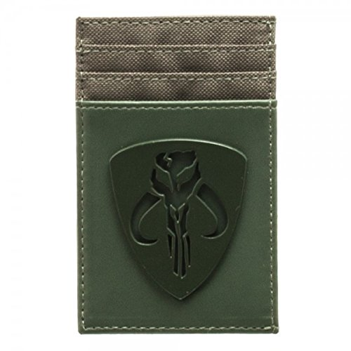 Star Wars Mandalorian Tonal Badge Frontpocket Wallet ()