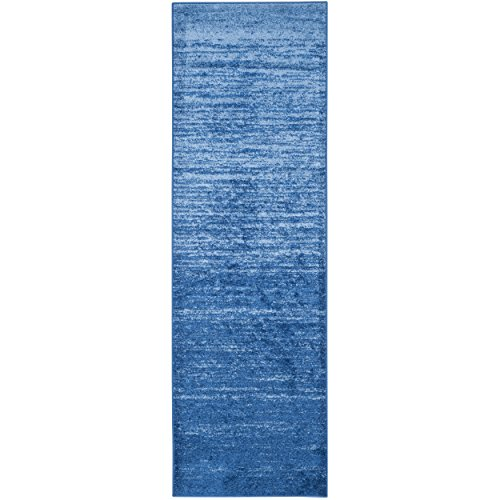 Safavieh Adirondack Collection ADR113F Light Blue and Dark Blue Modern Abstract Runner (2'6