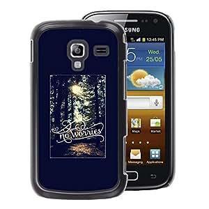 A-type Arte & diseño plástico duro Fundas Cover Cubre Hard Case Cover para Samsung Galaxy Ace 2 (Worries Summer Sun Forest Black)