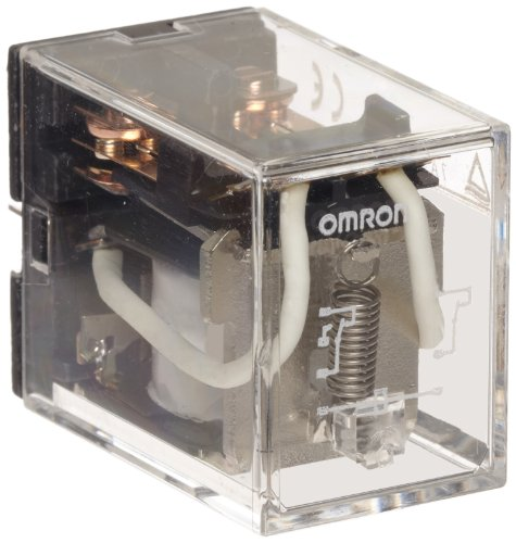 Omron LY2Z AC24 General Purpose Relay, Standard Type, Plug-In/Solder Terminal, Standard Bracket Moutning, Bifurcated Contact, Double Pole Double Throw Contacts,  53.8 mA at 50 Hz and 46 mA at 60 Hz Rated Load Current, 24 VAC Rated Load Voltage