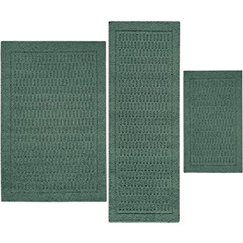 Stylish and Durable Dylan Nylon 3-Piece Accent Rug Set (Teal)