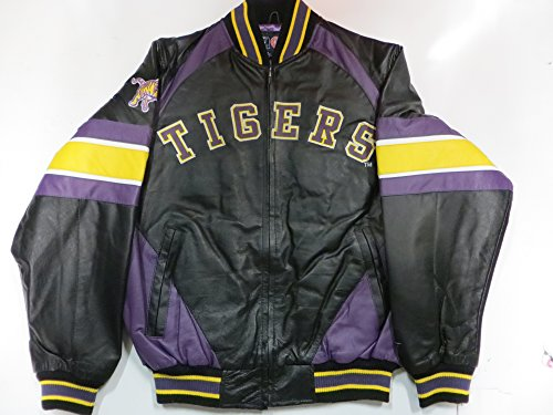 G-III LSU Tigers Men's Large Full Zip All Leather Jacket for sale  Delivered anywhere in USA