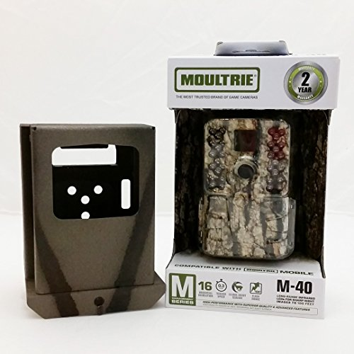 MOULTRIE M-40 IR Trail Camera and Camlockbox Security Box