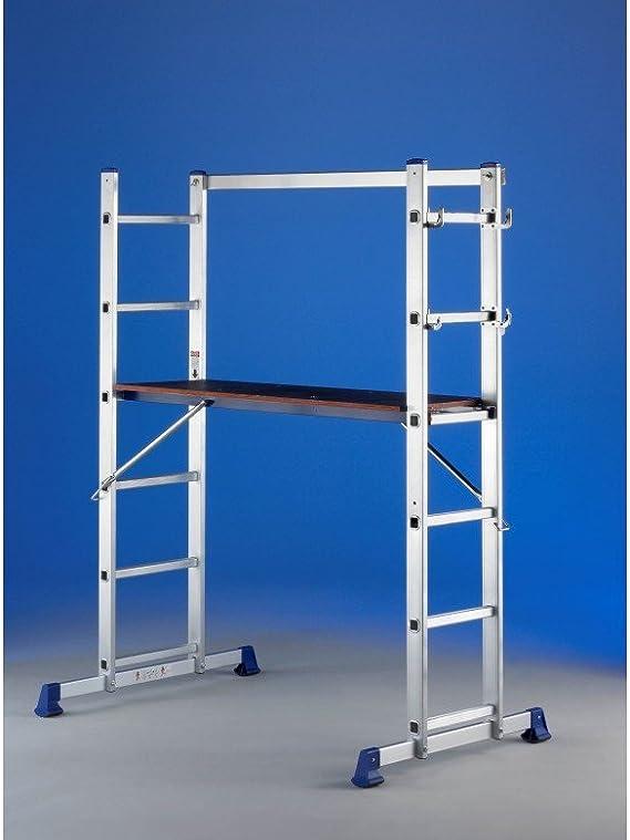 Svelt - Escalera Aluminio Convertible En Andamio Tecno 2X5Peld Svelt: Amazon.es: Bricolaje y herramientas