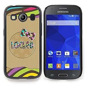 Stuss Case / Funda Carcasa protectora - Modelo del oro Bow texto Rayas Polka - Samsung Galaxy Ace Style LTE/ G357