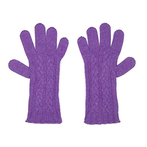 オックスフォードカシミアPureカシミアLadiesケーブル手袋