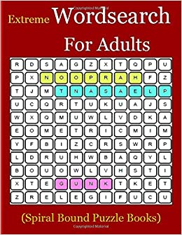 Extreme Wordsearch For Adults Spiral Bound Puzzle Books Themed