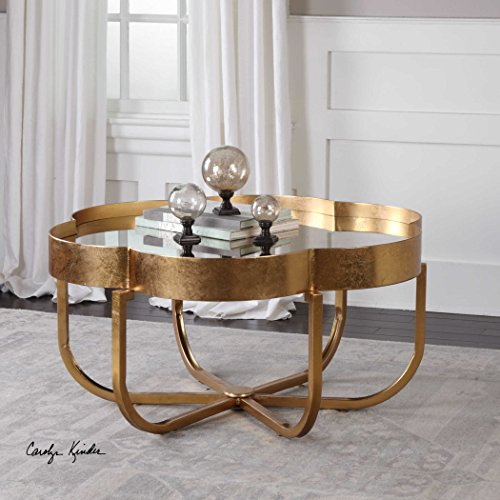 Cydney Gold Coffee Table by designer Carolyn Kinder (Forged Chandelier Antique Iron Table)