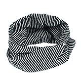 TAORE Knit Woolen Baby Scarf Neck Winter Warmer Neckerchief (Black)