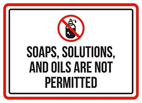 per Uso Commerciale Stile Vintage soluzioni Sicurezza Cartello in Metallo in Alluminio con saponi Oils Are Not Permitted Pool Spa