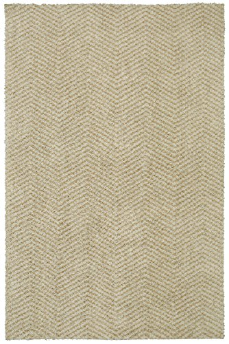 (Mohawk Home Laguna Clinton Chevron Woven Soft Shag Area Rug, 5'x8', Tan )