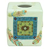 Bacova Guild 88413 Southwest Boots Tissue Cube Holder Tissue Cube