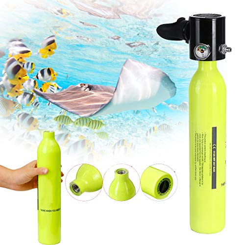 Diving Oxygen Tank - Spare Scuba Air Tank,Farway 0.5L Oxygen Underwater Mini Cylinder Breathing Bottle Diving Equipment